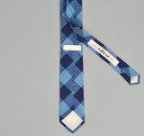 The Hill-Side - INDIGO LARGE GINGHAM POINTED TIE - PN57-154