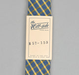 The Hill-Side - INDIGO/YELLOW WINDOWPANE TIE - N57-153