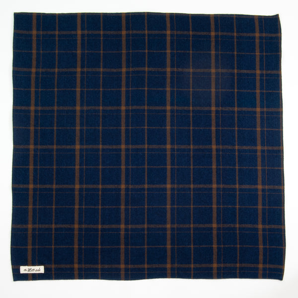 The Hill-Side - Bandana, Indigo / Brown Flannel Check - BA1-378