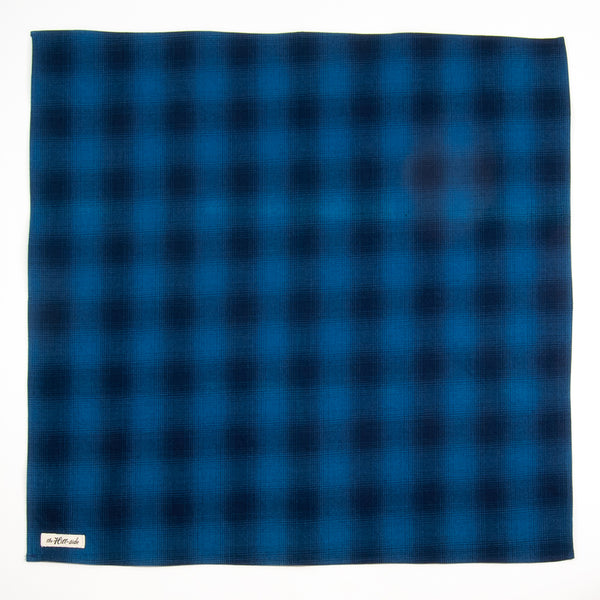 The Hill-Side - Bandana, Indigo Ombre Plaid Flannel - BA1-375