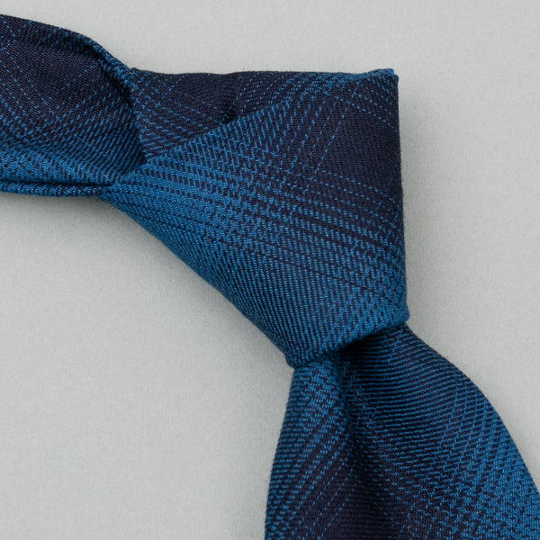 The Hill-Side Indigo Ombre Plaid Flannel Necktie