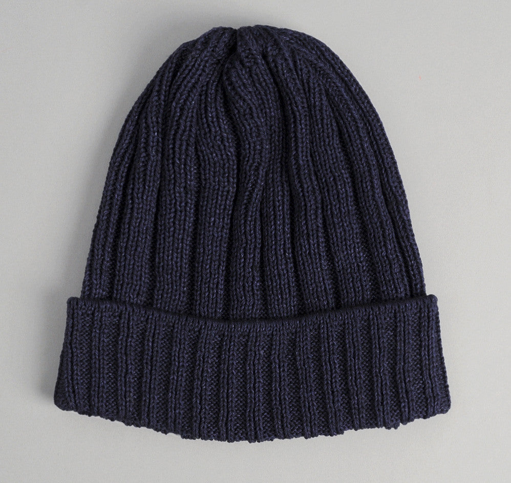 The Hill-Side - Indigo Pima Cotton Knit Cap - KC1-01