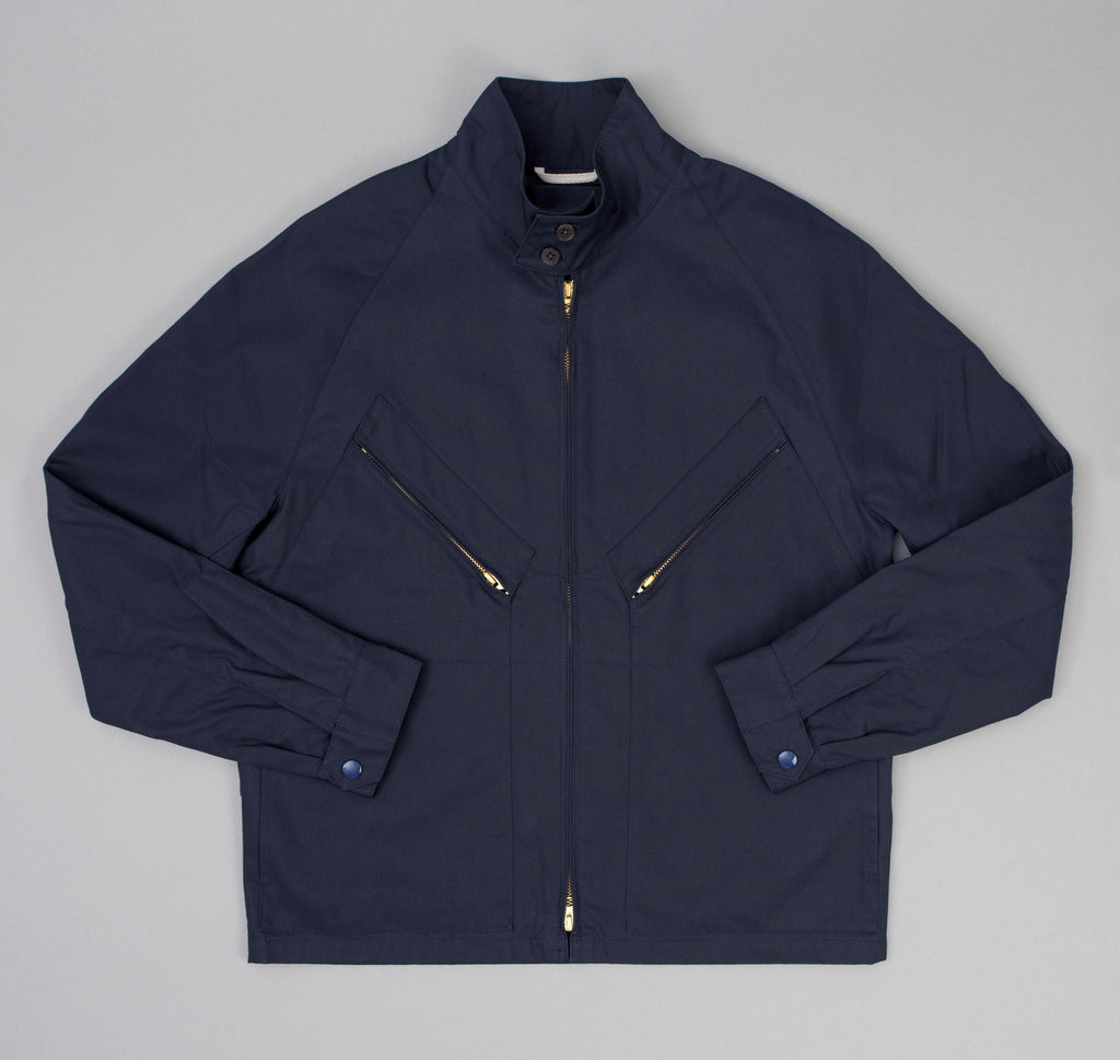 The Hill-Side - J-1 Drizzler Jacket, Navy Mercerized Cotton Gabardine - JK7-350