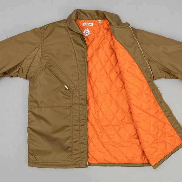The Hill-Side - J-1 Intermediate Quilted Jacket, Olive Drab (JK5-01) - JK5-01
