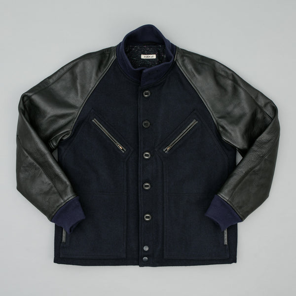 The Hill-Side J-1 Letterman Jacket, Navy/Black