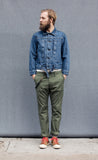 The Hill-Side - Japanamerica Type II Jacket, TH-S Mills 14 oz Okayama Selvedge Denim, Heavy Stonewash - JK11-363A