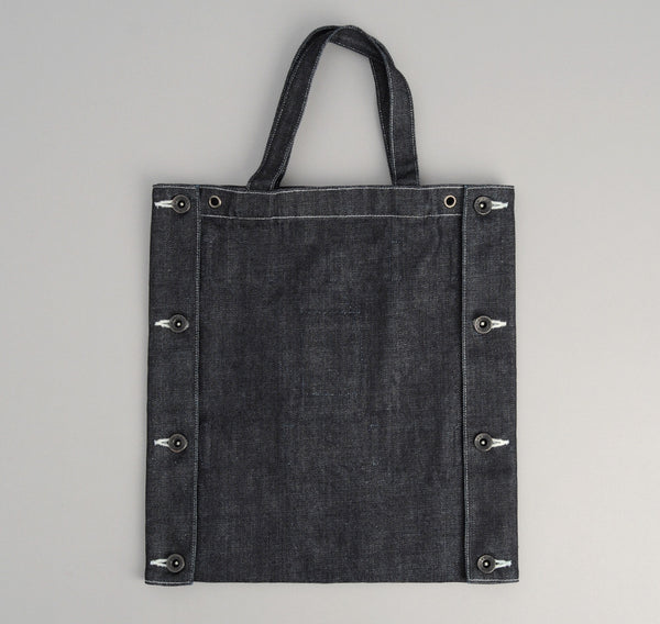 The Hill-Side 2-Way Tie Carrier Tote Bag, Japanese Denim