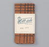 The Hill-Side Kakishibu Dyed Cotton Oxford Pocket Square, Hand-Drawn Check