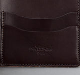 The Hill-Side - Kakishibu Dyed Cotton Oxford Wallet, Hand-Drawn Check - WA1-320