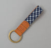 The Hill-Side - Key Fob, Selvedge Indigo Madras Small Check, Indigo Base - KF1-337