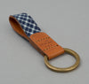 The Hill-Side Key Fob, Selvedge Indigo Madras Small Check, Indigo Base