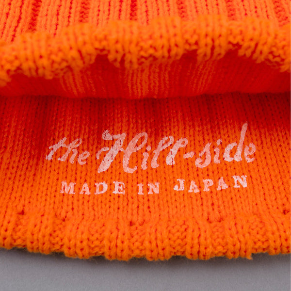 The Hill-Side - Knit Cap, Blaze Orange Acrylic - KC3-08
