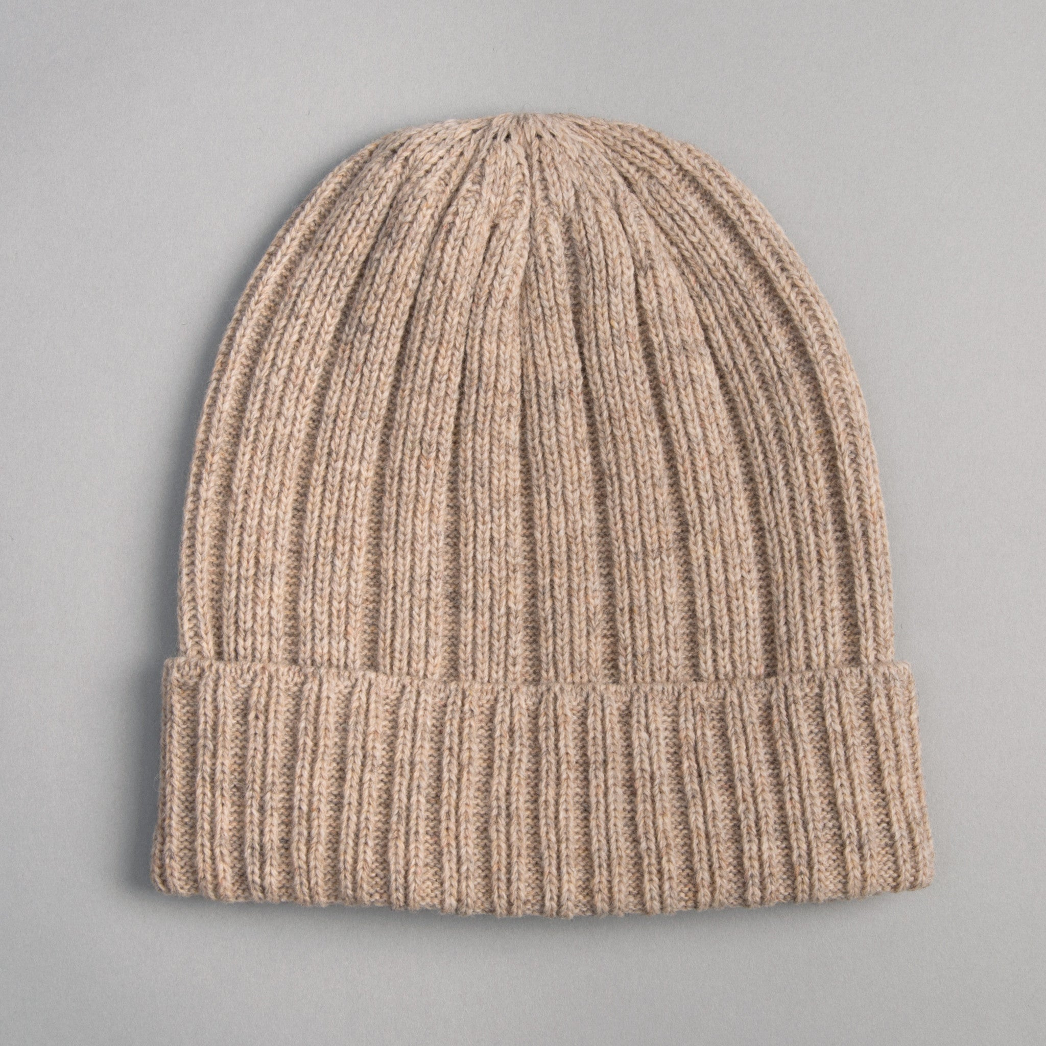 The Hill-Side - Knit Cap, Oatmeal Grey Irish Wool - KC2-06