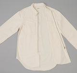 The Hill-Side - Lightweight Back Satin Heli Crew Shirt, Natural - SH4-361