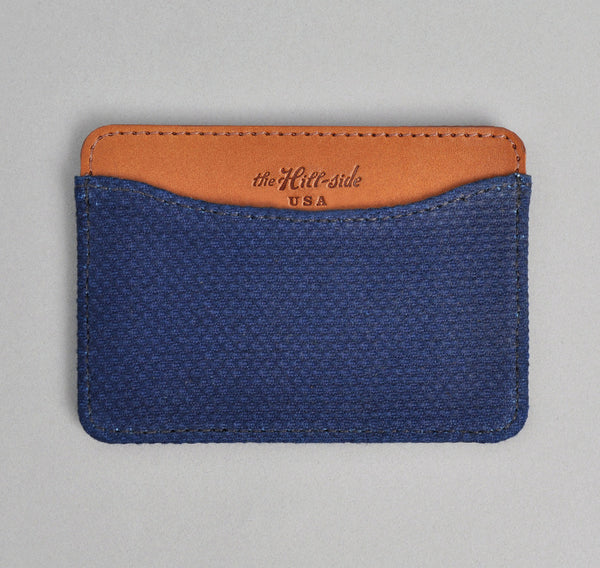 The Hill-Side - Lightweight Indigo Sashiko Card Case - CC1-244