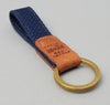 The Hill-Side - Lightweight Indigo Sashiko Key Fob - KF1-244