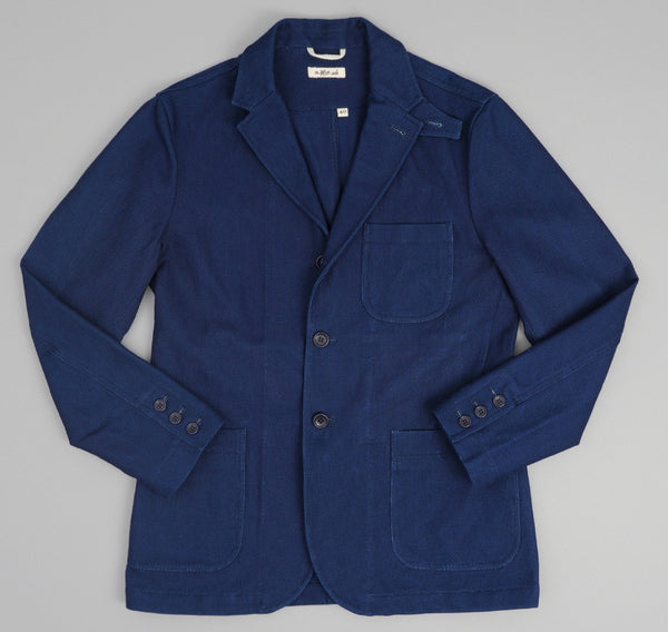 The Hill-Side - Lightweight Indigo Sashiko Tailored Jacket - JK1-244