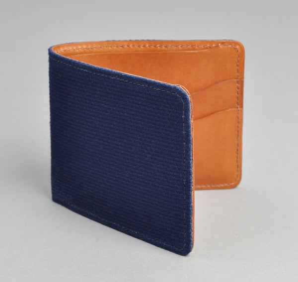 The Hill-Side Indigo Sashiko & Leather Wallet