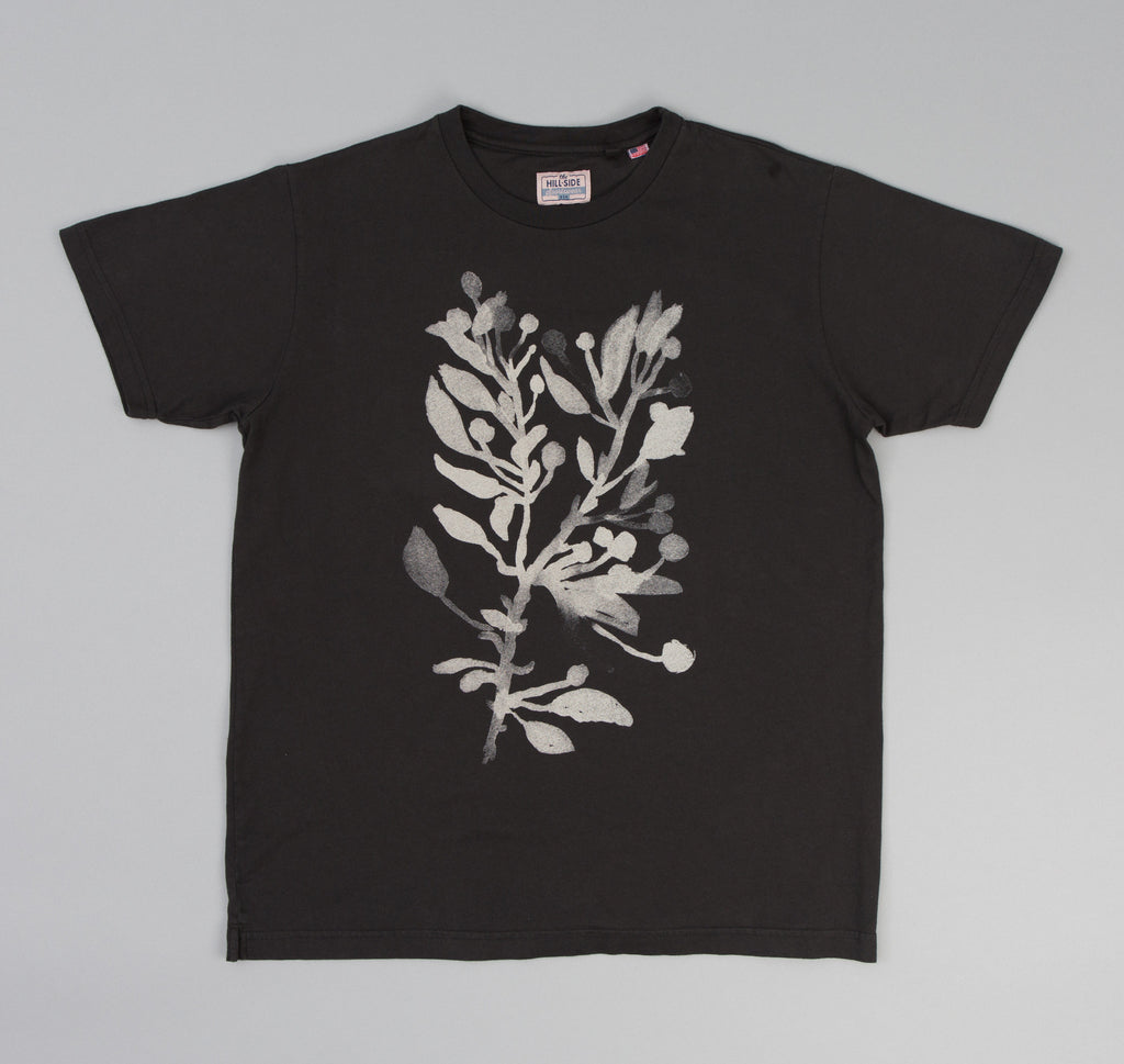 The Hill-Side - Liza's Tree Drawing Printed T-Shirt, Faded Black - TS1-0604