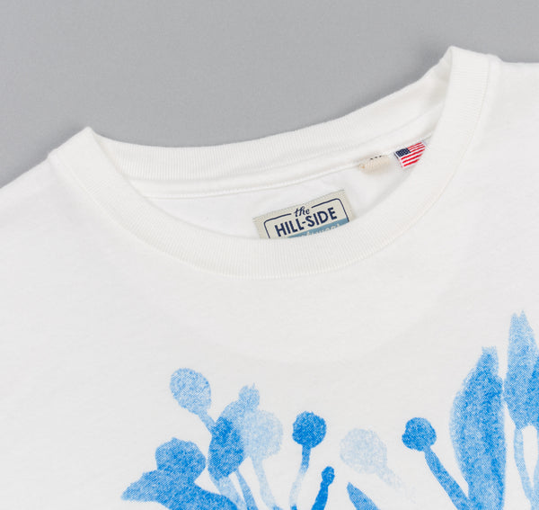 The Hill-Side - Liza's Tree Drawing Printed T-Shirt, Natural White - TS1-0601