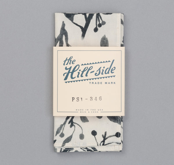 The Hill-Side - Liza's Tree Drawings Pocket Square, Natural - PS1-346