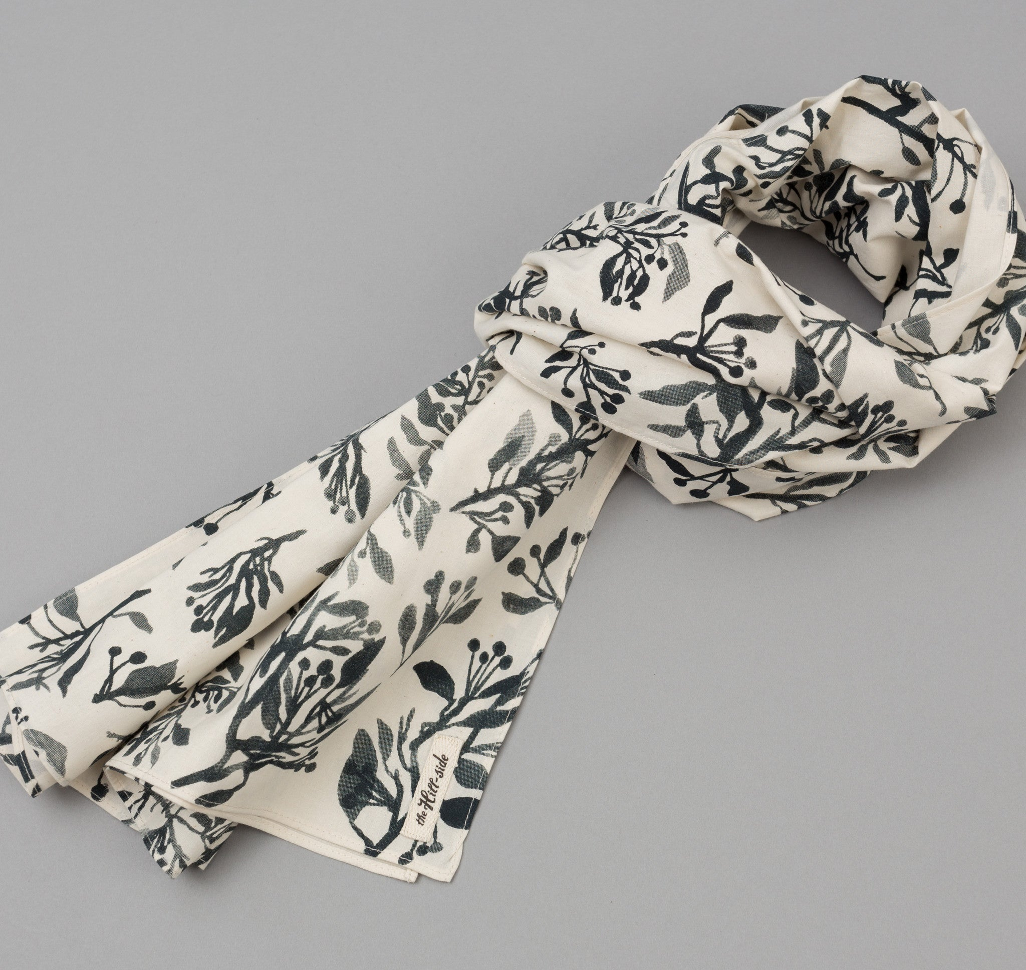 The Hill-Side Liza's Tree Drawings Scarf, Natural