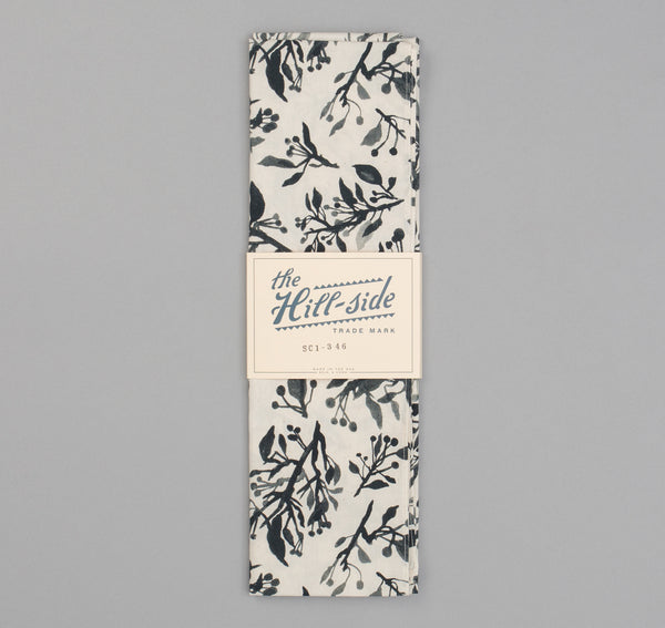 The Hill-Side - Liza's Tree Drawings Scarf, Natural - SC1-346