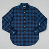 The Hill-Side - Long Sleeve Standard Shirt, Indigo Ombre Plaid Flannel - SH1-375