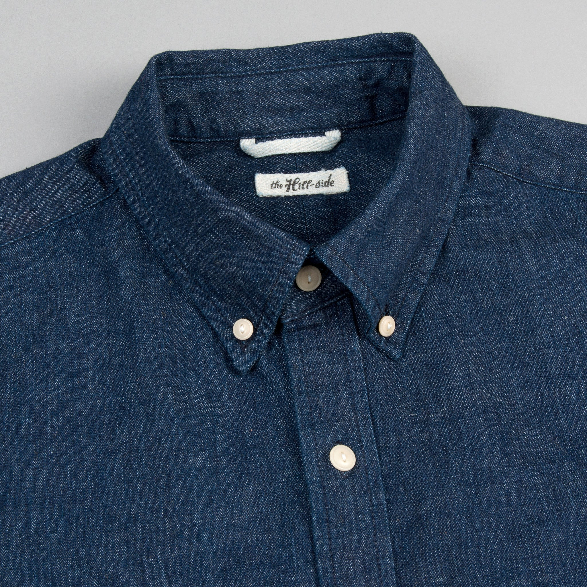 The Hill-Side - Long Sleeve Standard Shirt, Lightweight Weft-Slub Selvedge Denim - SH1-310