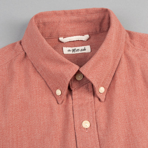 The Hill-Side - Long Sleeve Standard Shirt, Selvedge Covert Chambray, Terracotta - SH1-374