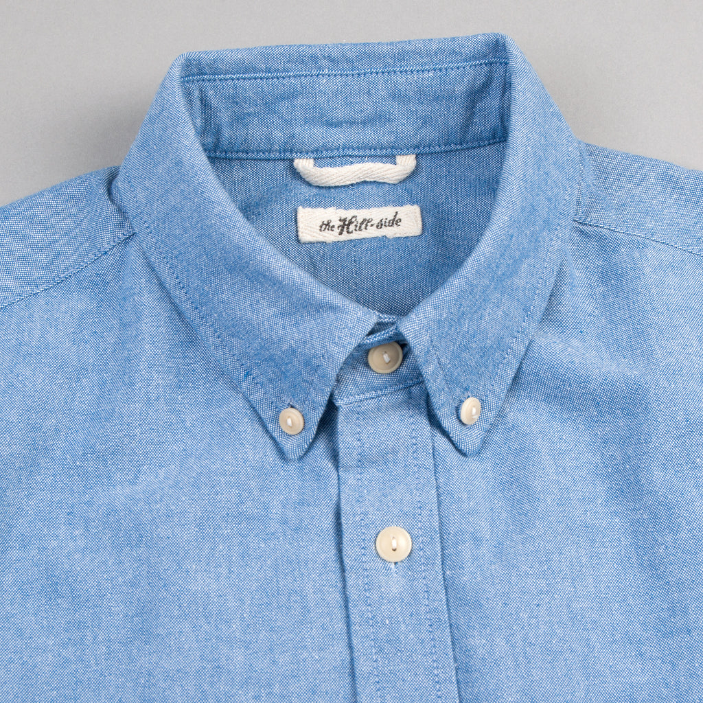 The Hill-Side - Long Sleeve Standard Shirt, Selvedge Oxford, Blue - SH1-285