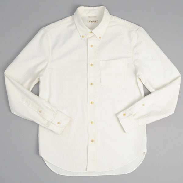 The Hill-Side - Long Sleeve Standard Shirt, Selvedge Oxford, White - SH1-284