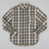 The Hill-Side Long Sleeve Standard Shirt, Sulphur-Dyed Flannel Check, Grey/Brown