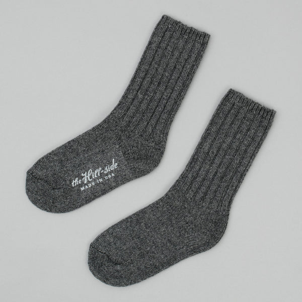 The Hill-Side - Merino Wool Ragg Socks, Charcoal - SX5-02