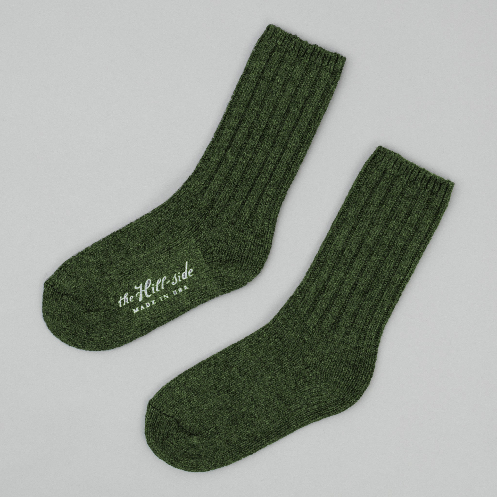 The Hill-Side - Merino Wool Ragg Socks, Forest Green - SX5-05