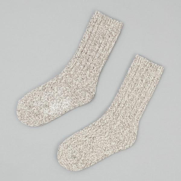 The Hill-Side - Merino Wool Ragg Socks, Oatmeal - SX5-03