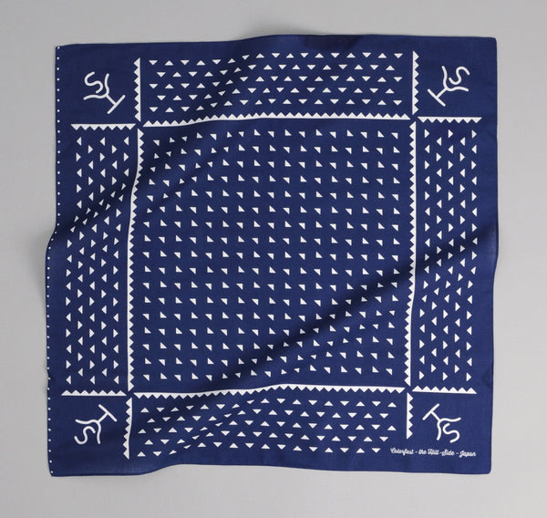 The Hill-Side - Navy Souvenir Bandana Rancher Logo - SB1-03