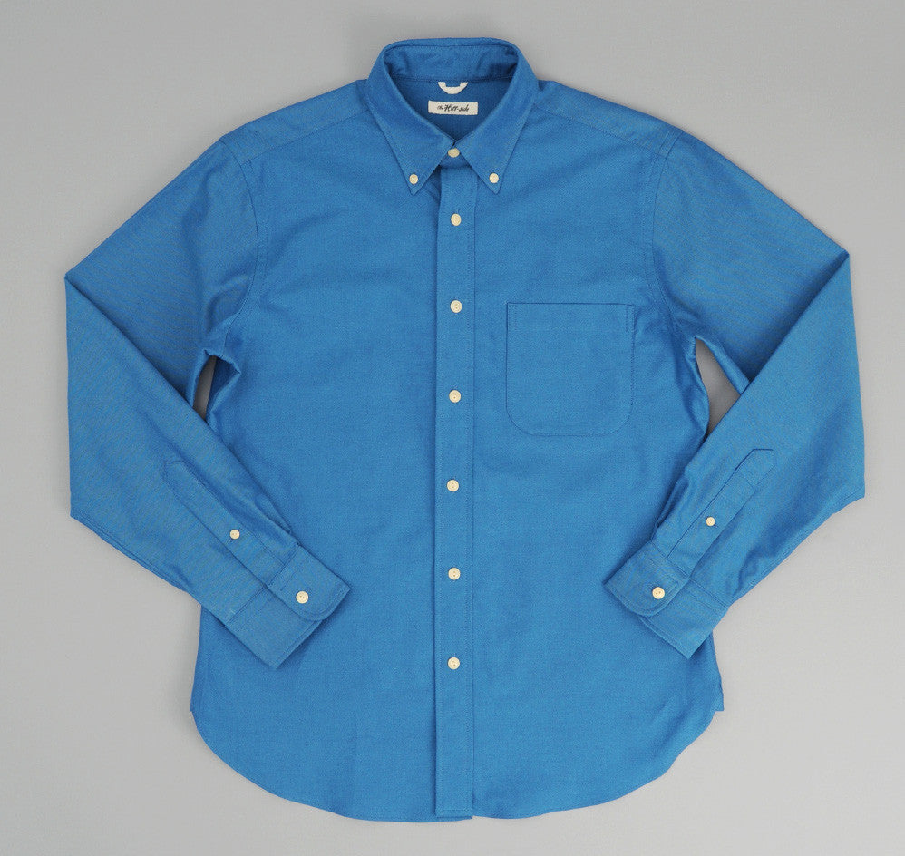 The Hill-Side - Navy Warp Oxford Button-Down Shirt, Bright Blue / Navy - SH1-251