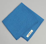 The Hill-Side - Navy Warp Oxford Pocket Square, Bright Blue / Navy - PS1-251
