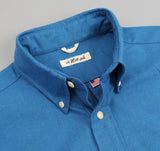 The Hill-Side - Navy Warp Oxford Short Sleeve Button-Down Shirt, Bright Blue / Navy - SH2-251