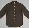 The Hill-Side - Nep Twill Flannel Button-Down Shirt, Olive - SH1-185