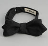 The Hill-Side - Overdyed Soft Oxford Bow Tie, Black - BT1-224
