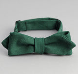 The Hill-Side - Overdyed Soft Oxford Bow Tie, Hunter Green - BT1-228