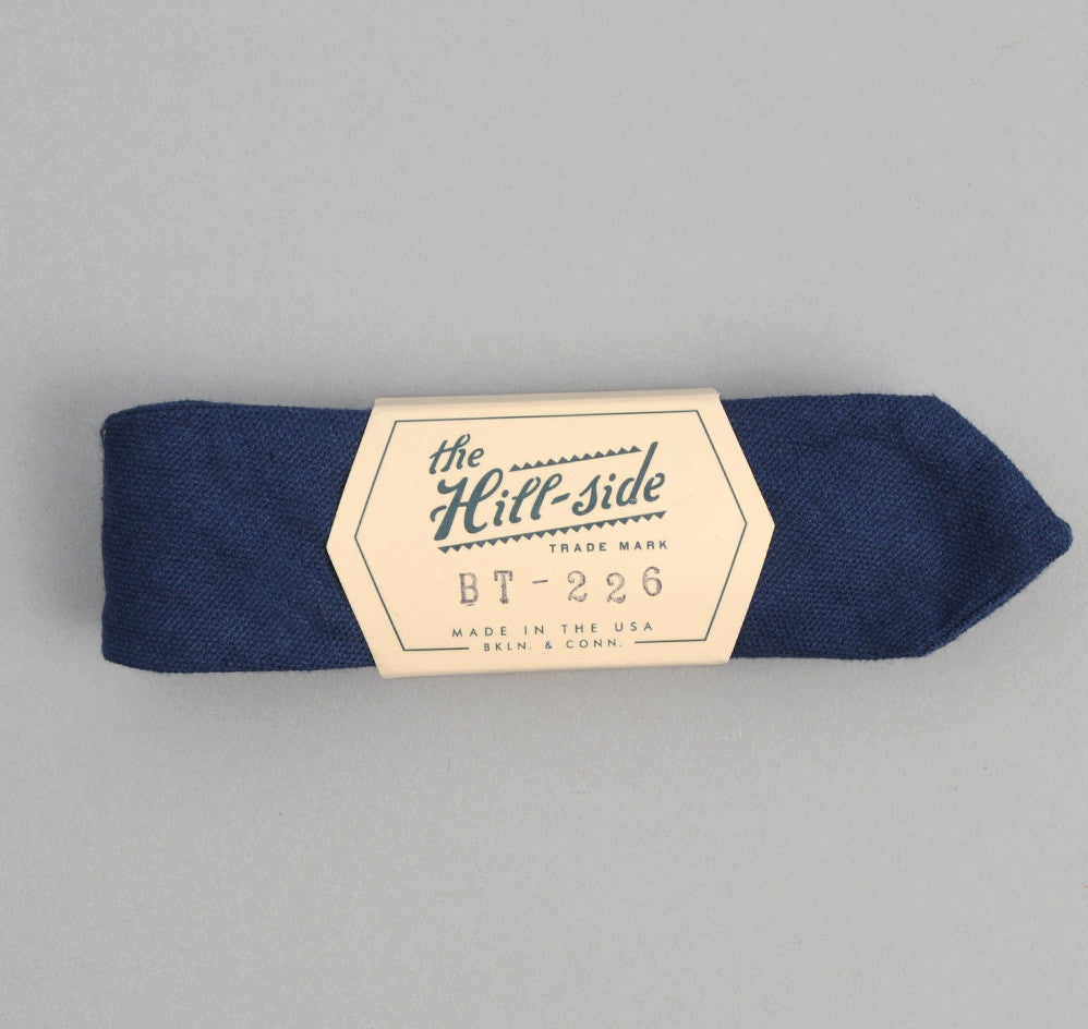 The Hill-Side - Overdyed Soft Oxford Bow Tie, Navy - BT1-226