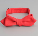 The Hill-Side - Overdyed Soft Oxford Bow Tie, Red - BT1-227