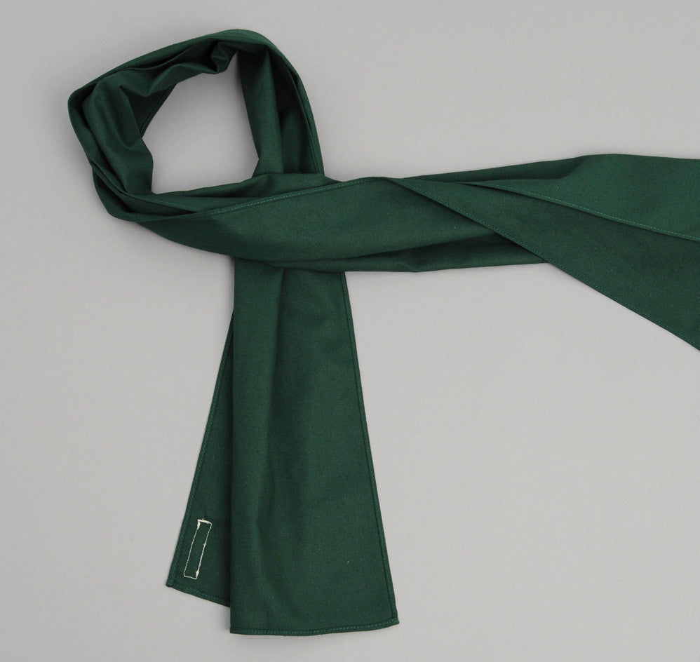 The Hill-Side - Overdyed Soft Oxford Small Scarf, Hunter Green - SC2-228