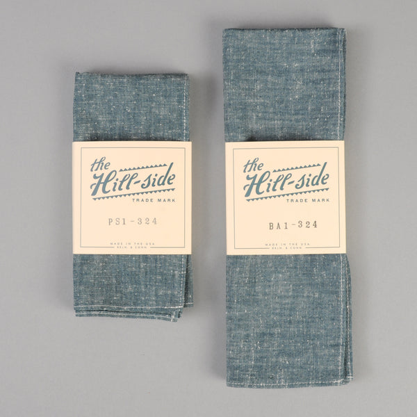 The Hill-Side - Pocket Square, Extra Neppy Indigo Chambray - PS1-324