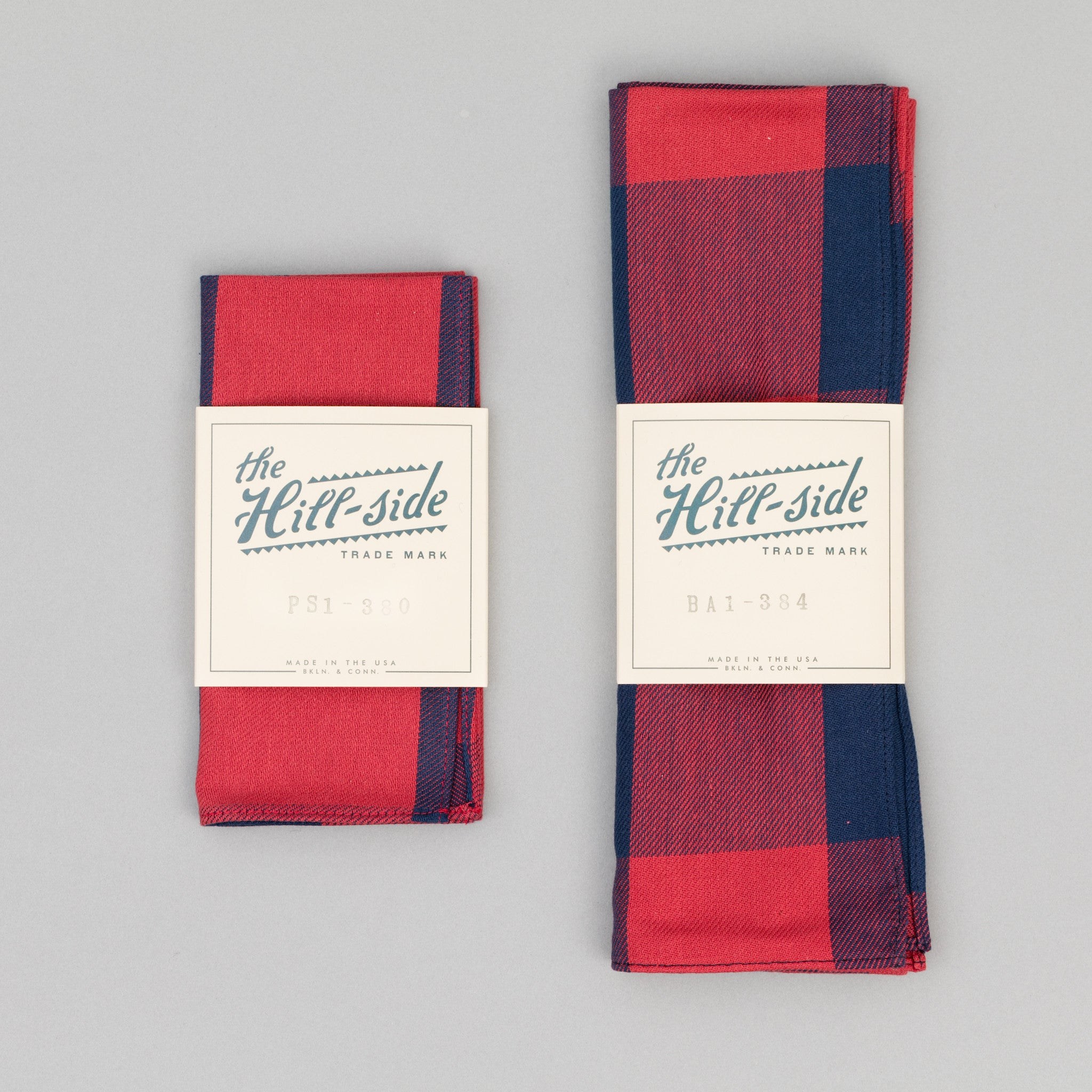 Indigo / Red Buffalo Check Bandana