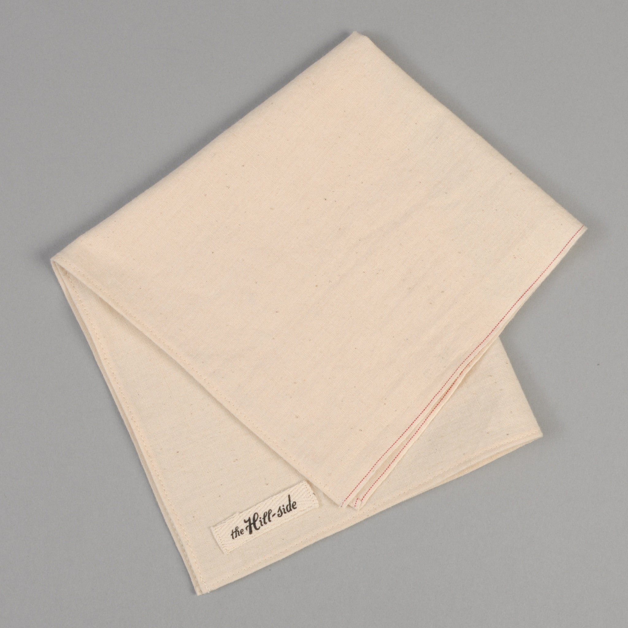 The Hill-Side - Pocket Square, Selvedge Chambray, Natural - PS1-007