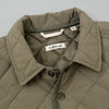 The Hill-Side - Quilted Ueno Jacket, Water-Resistant Brushed Nylon, Sage Green - JK13-398